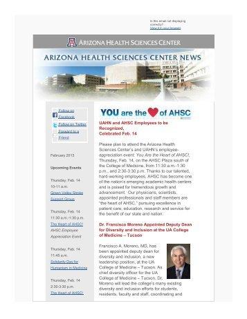 February - AHSC Office of Public Affairs - University of Arizona