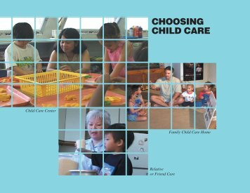 Choosing Child Care (booklet) - Center on the Family