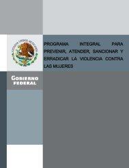 Programa Integral para Prevenir, Atender, Sancionar y ... - CONAVIM