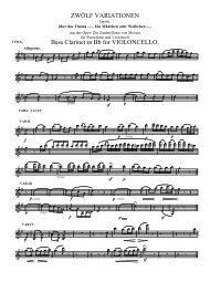 ZWÖLF VARIATIONEN Bass Clarinet in Bb for VIOLONCELLO.