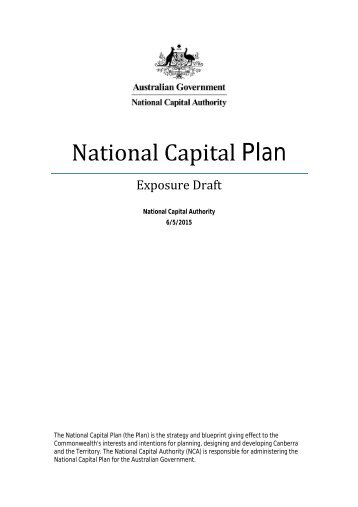 National Capital Plan - Exposure Draft 2015