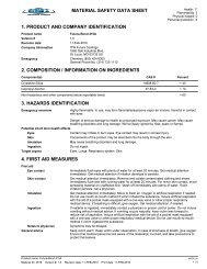 material safety data sheet .1. product and company identification .2 ...