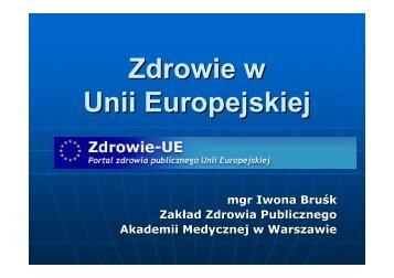 Zdrowie w UE - Centrum Informacji Europejskiej