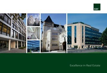 Excellence in Real Estate - FAY Projects GmbH