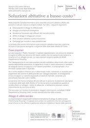 Soluzioni abitative a basso costo - Seniors Information Service
