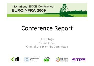 Report from EUROINFRA Symposium 2009 - European Council of ...