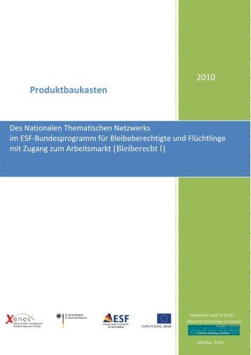 Produktbaukasten der Projekte - Europäischer Sozialfonds (ESF)