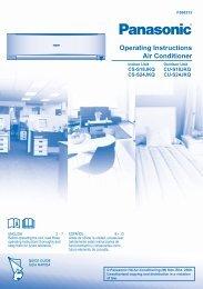Operating Instructions Air Conditioner - Panasonic
