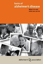 Basics of Alzheimer's Disease - NC Department of Health and ...