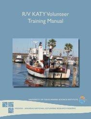 R/V KATY Volunteer Training Manual - Mission - Aransas National ...