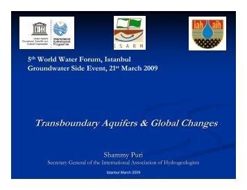 Transboundary Aquifers & Global Changes