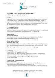 Program Unga Kvinnor Katalys 2009 - - Margareta Ivarsson