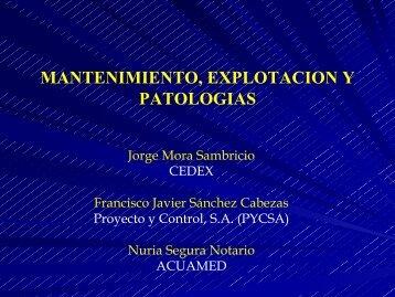 08. Mantenimiento, Explotación y Patologías (Jorge Mora ... - spancold