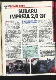 Subaru Impreza 2,0 GT Road Test - Car Magazine Blog