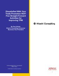Dissatisfied With Your Trade Promotion ROI? - Hitachi Consulting