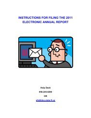 instructions for filing the 2011 electronic annual report