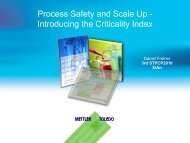 Process Safety and Scale Up - Introducing the Criticality Index