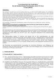 Verordnung über den Studienplan für die ... - mibla.TUGraz.at