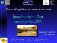 Inondations du Gier en novembre 2008 - CoTITA