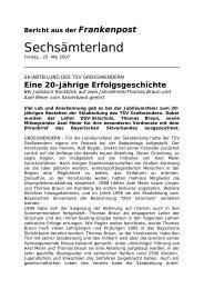 Bericht aus der Frankenpost - Skiverband Oberfranken