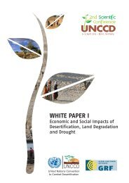 Economic and social impacts of desertification, land degradation ...