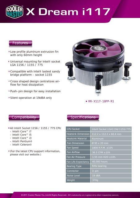 Cooler Master X Dream 4 CPU Cooler