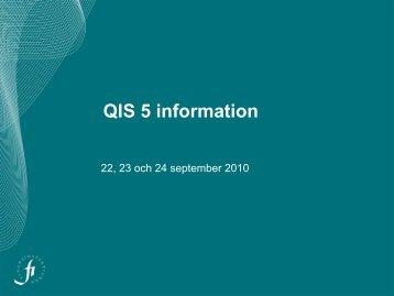QIS 5 information - Finansinspektionen