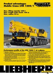 Product advantages Mobile Crane LTM 1200/1 Max. lifting capacity