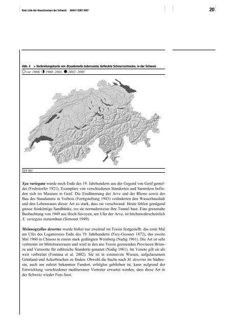 Rote Liste der gefährdeten Arten der Schweiz: Heuschrecken