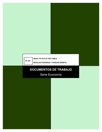 DOCUMENTOS DE TRABAJO Serie Economía - Departamento de ...