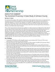 Executive summary - Iowa Fiscal Partnership