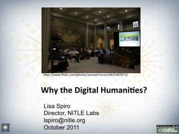 Why the Digital Humani@es? - Digital Scholarship in the Humanities