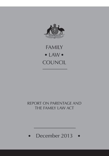 family-law-council-report-on-parentage-and-the-family-law-act-december2013