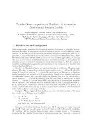 A test case for Distributional Semantic Models - clic-cimec