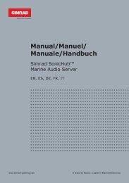 Manual/Manuel/ Manuale/Handbuch - Simrad