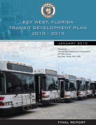 Key West Transit Development Plan 2010 - KeyWestCity.com
