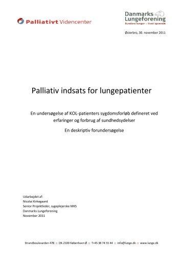 Læs hele projektbeskrivelsen - Danmarks Lungeforening