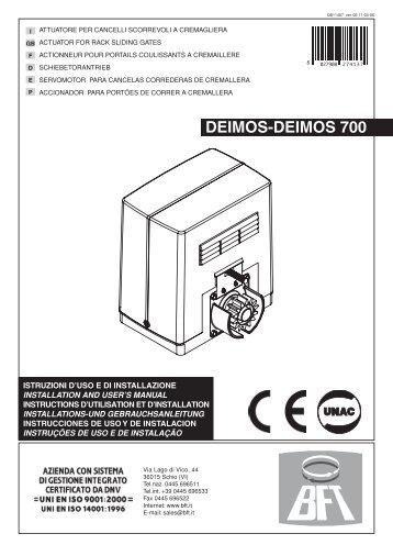 DEIMOS-DEIMOS 700
