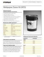 Multipurpose Tractor Oil (MTO) - Toromont CAT