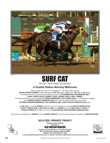 SURF CAT - California Thoroughbred Breeders Association