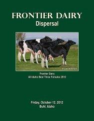 Frontier Dairy - Holstein World Online