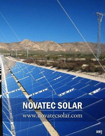 NOVATEC SOLAR - The International Resource Journal