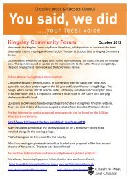 Kingsley Community Forum You Said We Did Feedback October 2012