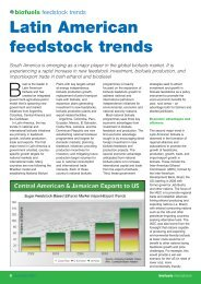 Biofuels Feedstock trends - Emerging Markets Online