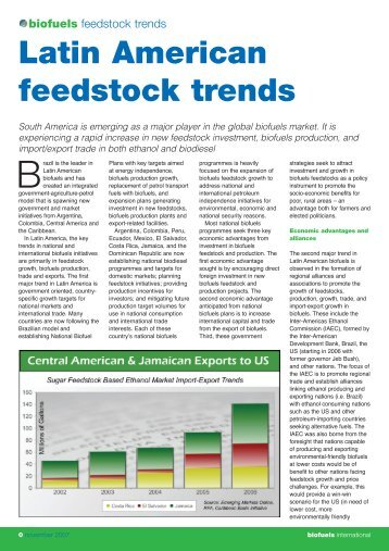 Biofuels Feedstock trends - Emerging Markets Online