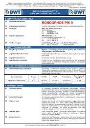 MSDS-RONDOPHOS PIK 9 - BWT Polska