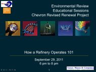 Sample 1 - Chevron Refinery Revised Renewal Project