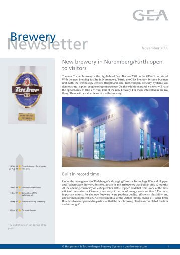 Newsletter - GEA Brewery Systems