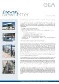 Newsletter - GEA Brewery Systems - Page 6