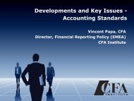 Developments and Key Issues - Accounting Standards